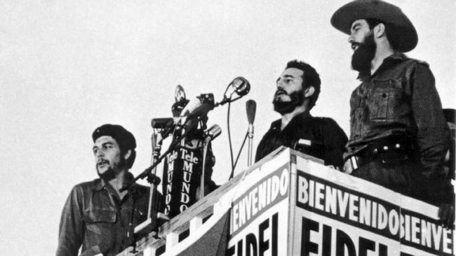 Che Guevara, Fidel Castro and Camilo Cienfuegos
