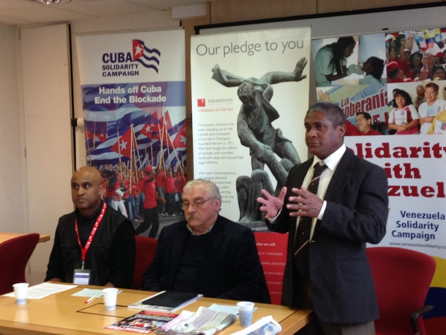 Jorge Luis Garcia, Cuban Embassy Political Counsellor (far right in photo)