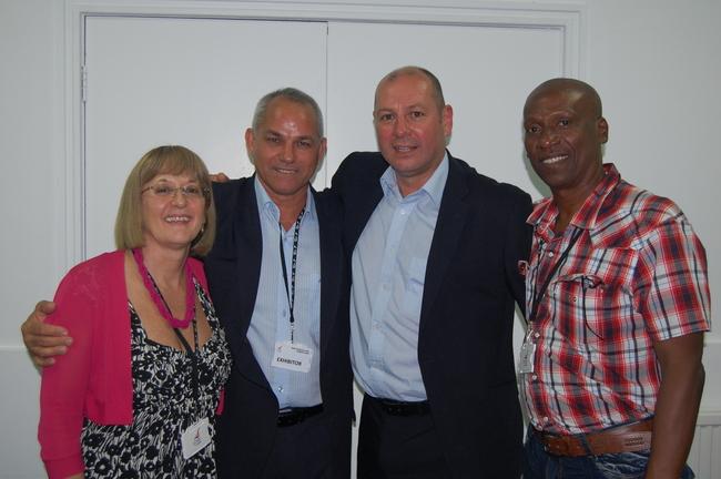 Diana Holland, Unite AGS, Raymundo Navarro, CTC, Steve Turner, Unite AGS and Alexis Abreu of the Cuban Miners and Energy Union