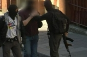 A photograph from the police operation which clearly shows one of the