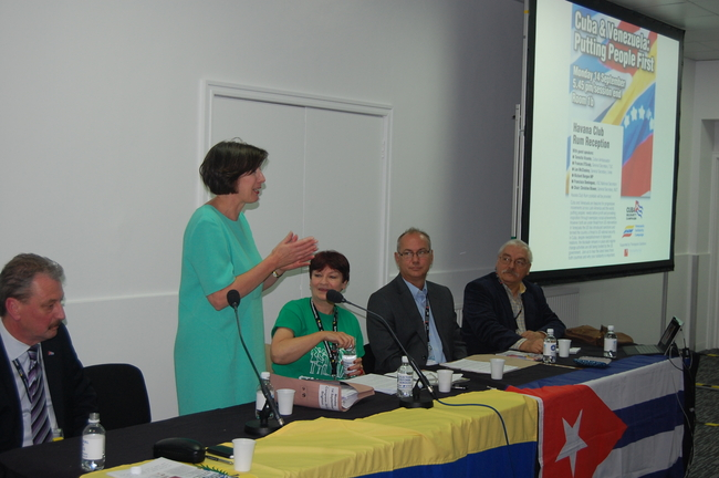 TUC General Secretary Frances O'Grady speaking at the fringe meeting on Monday 14 September