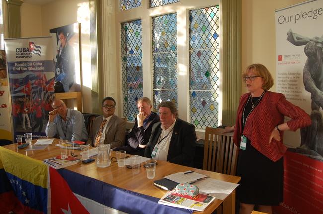 Rob Miller, Marcos Garcia, Colin Burgon, Tony Burke and Baroness Angela Smith