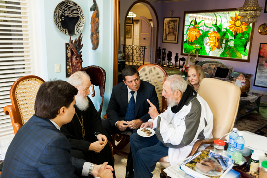 Following the historic visit with the Pope, Patriarch Krill also met with Fidel Castro