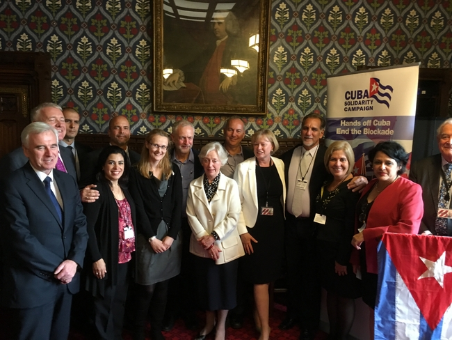 In parliament with cross party members of the APPG on Cuba