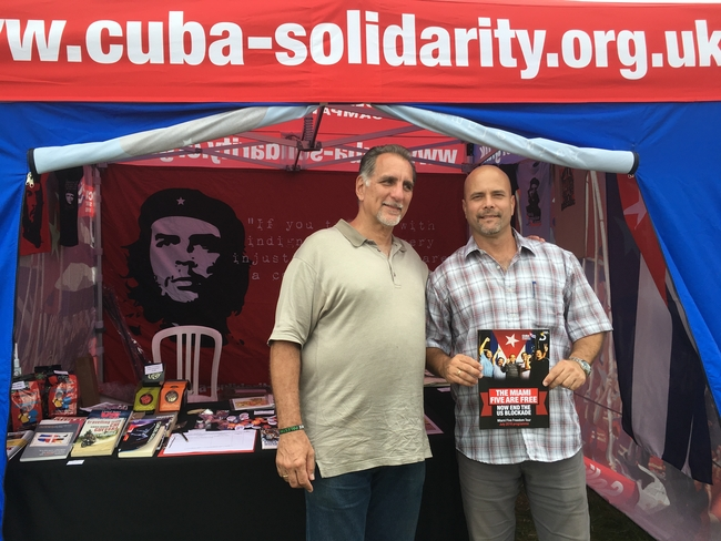 On the CSC stall at the Tolpuddle Festival