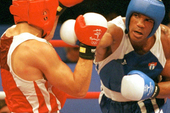 Cuban boxing hero Felix Savon in the 2000 Sydney Olympic Games