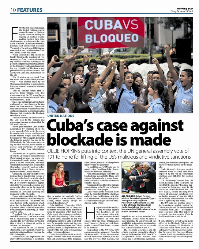 Morning Star, Friday 28 October 2016