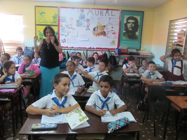 The NUT delegation visited a range of schools, including the Cesáreo Fernández Municipio Playa Primary School in Havana