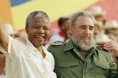 Nelson Mandela and Fidel Castro in Havana