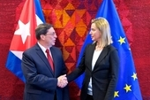 Bruno Rodriguez, Foreign Minister of Cuba and Federica Mogherini, EU High Representative for Foreign Affairs