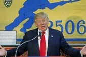 Donald Trump speaking at the Bay of Pigs Brigade 2506 during the campaign trail