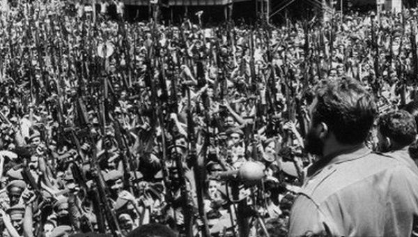 At a funeral for those killed in U.S. airstrikes, Fidel Castro proclaimed the socialist nature of the Cuban Revolution.