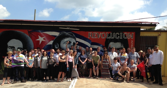 The 2017 Young Trade Unionists' May Day Brigade to Cuba delegation