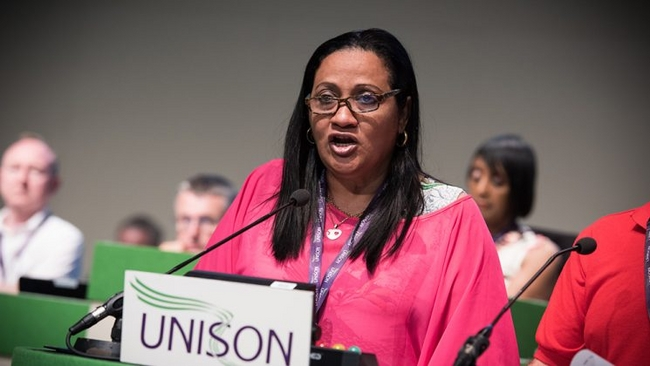 Dulce Maria Iglesias Suárez, general secretary of SNTAP, the Cuban public services union
