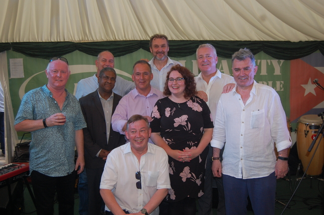 Ronnie Draper,  Jorge Luis Garcia,  Rob Miller, Ian Mearns MP, Sean Hoyle,  Kevin Courtney,  Danielle Rowley MP, Ian Lavery MP & MIck Cash