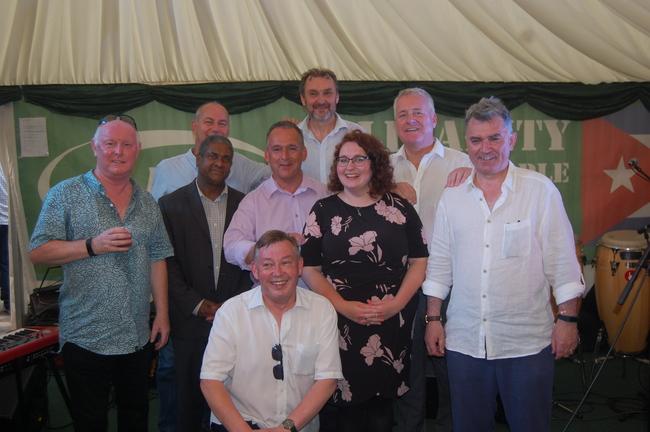 Ronnie Draper,  Jorge Luis Garcia,  Rob Miller, Ian Mearns MP, Sean Hoyle,  Kevin Courtney,  Danielle Rowley MP, Ian Lavery MP & MIck Cash