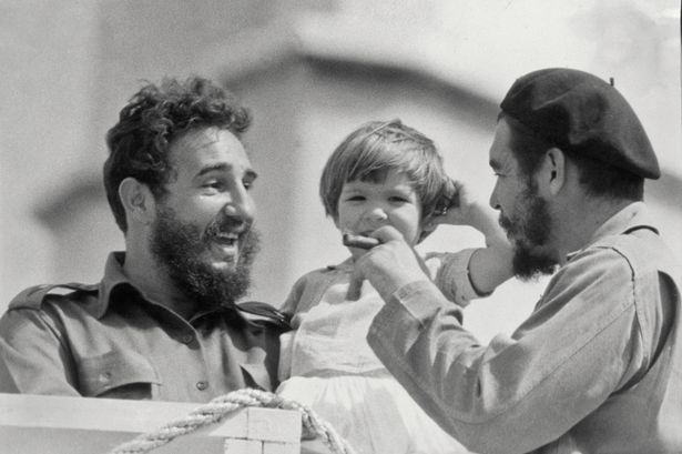 Aleida Guevara with Fidel and Che