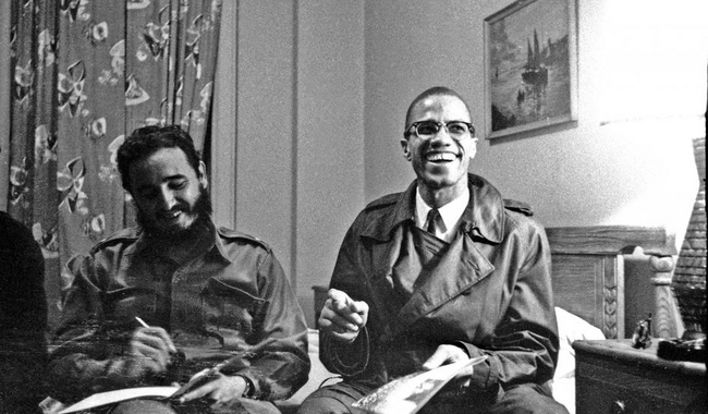 Fidel Castro and Malcolm X at the Hotel Theresa, Harlem, New York, 1960
