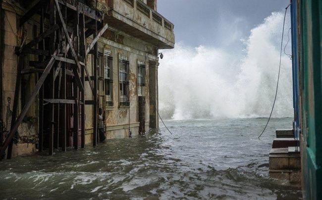 Flooded streets in Havana