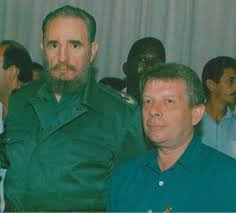 Phil Lenton pictured with Fidel Castro