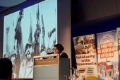 Teresita Vicente, Cuban Ambassador, speaking at the Latin America Conference