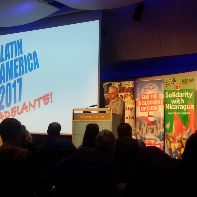 Andrew Murray, Unite Chief of Staff, speaking at Latin America 2017 Conference