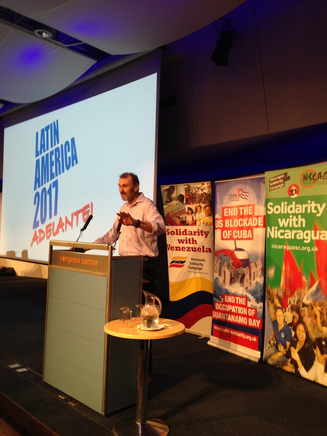 Kevin Courtney speaking at Latin America Conference 2017