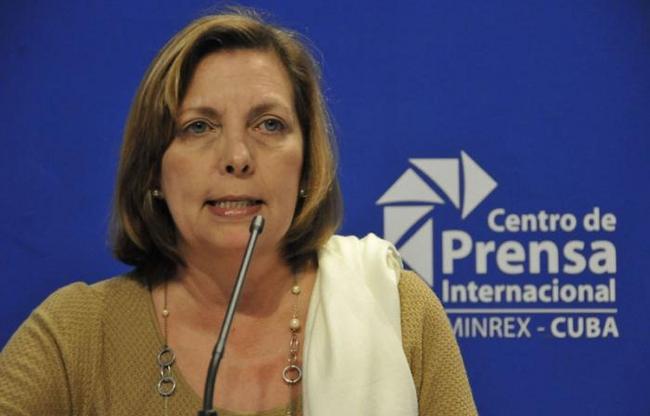 Josefina Vidal leads the Cuban delegation