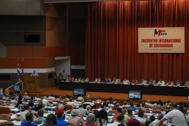 Rob Miller, CSC Director, speaking at the International Solidarity with Cuba Conference
