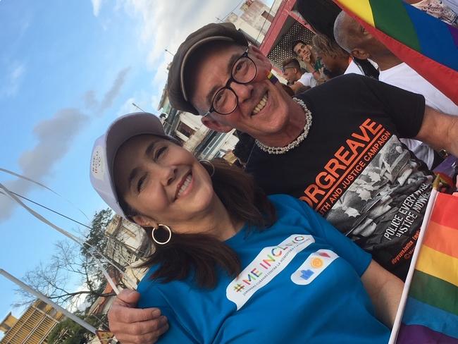 Mike Jackson of 'Pride' with CENESEX director, Mariela Castro