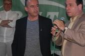 Fernando Gonzalez with RMT president Sean Hoyle