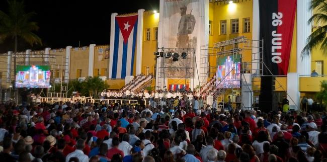 Cubans celebrate Moncada Day, 26 July in Santiago de Cuba last week