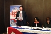 Dan Carden MP, H.E. Teresita Vicente, Cuban Ambassador and Karen Lee MP