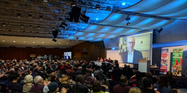 Jeremy Corbyn sent a video message to the Latin America Conference