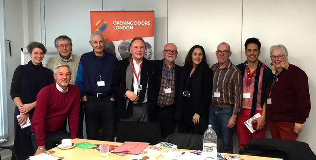 Mariela Castro and grassroots LGBT+ activists at the Opening Doors London office