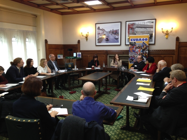 Mariela speaking at the APPG meeting
