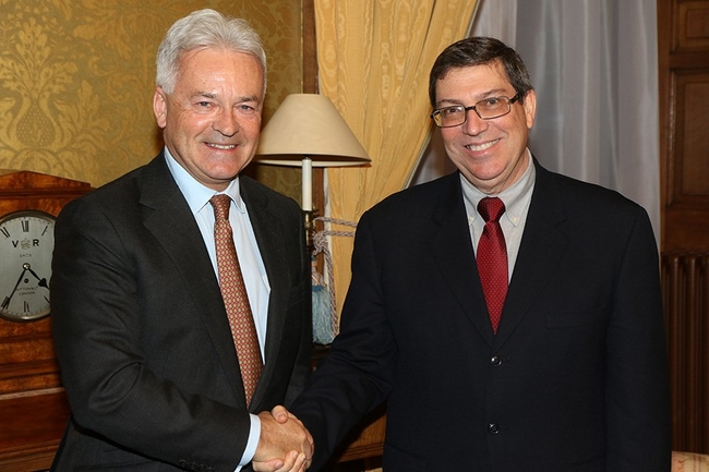 Sir Alan Duncan MP, Minister of State for Europe and the Americas and Bruno Rodriguez, Cuba's Minister for Foreign Affairs, met in London in November 2018