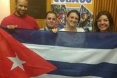 Yuniel Espinosa Reyes and Yelena Gomez Gomez, with CSC's Gordon Calliste and Yolanda Ego Figas