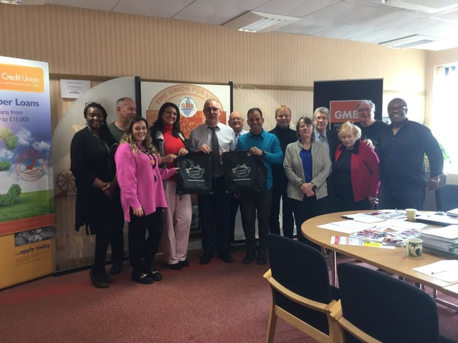 Yuniel and Yelena spoke at the GMB regional committee meeting, where they met Martin Allen, Midlands and East Coast Regional Secretary and were hosted by Sarah Worth, Regional Organiser