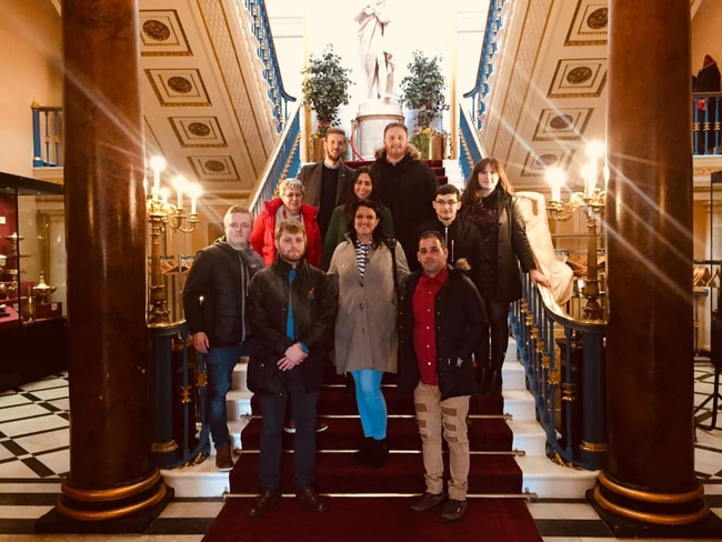 Liverpool Town Hall visit with the Unite North West Young Members Committee