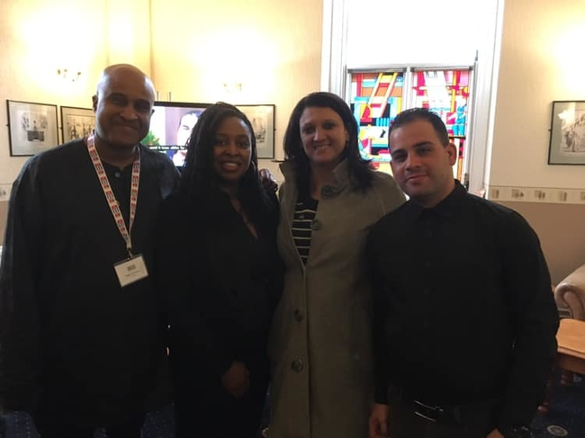 At UNISON North West region's Skills for Strength Conference: Meeting Roger McKenzie, UNISON AGS and Dawn Butler MP, Shadow Women's and Equalities Secretary