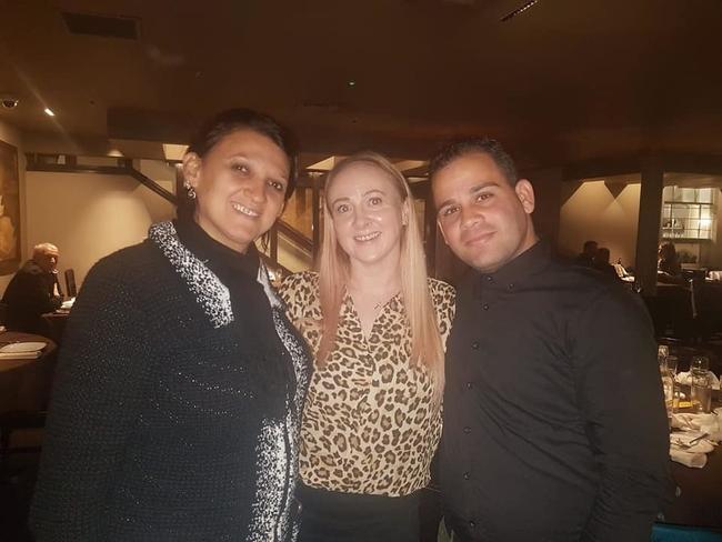 Yelena Gomez and Yuniel Espinosa with Tracy Delany, UNISON North West Region International Committee Secretary