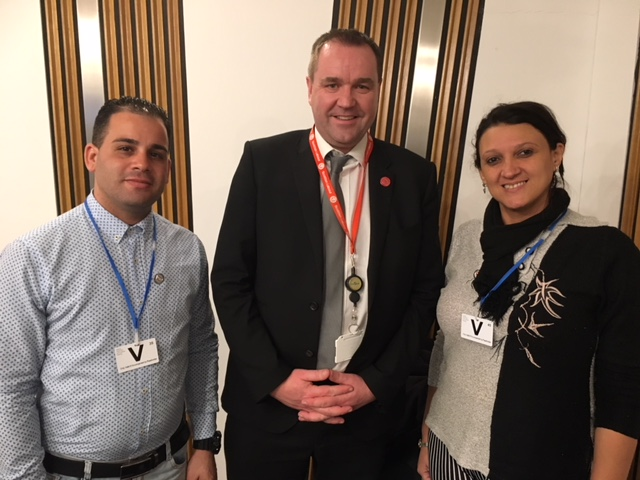 The young workers met with Neil Findlay MSP in the Scottish Parliament