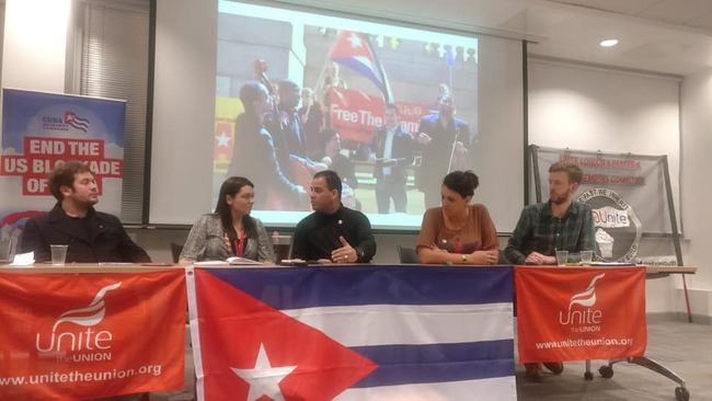 Public meeting with Unite Young Members Committee, with Mercedes Sanchez, Regional Officer and Marcus Barnett, Young Labour International Officer