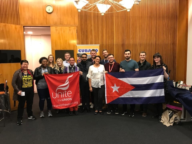 Cuban young workers and Unite young members at the TUC Young Workers Conference