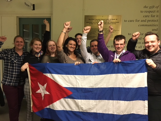 The Cubans with STUC Youth Committee and UNISON Scotland young members