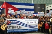 Play for Cuba appeal send-off at the NEU Conference 2019 in Liverpool