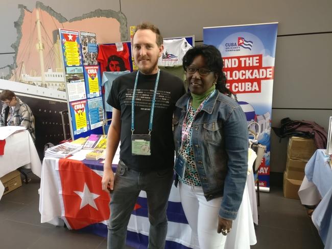 Robin Pardo Roques (NEU Leicester) and Maida Bisset Despaigne, SNTECD Regional Secretary