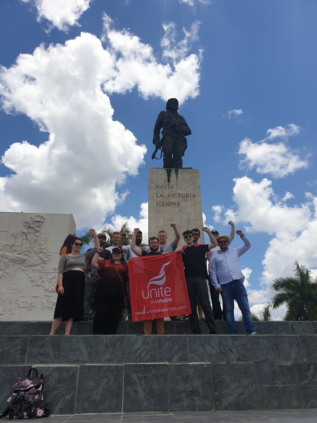Unite delegates at the Che Guevara Mausoleum, Santa Clara