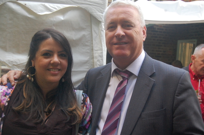 Mariela Kohn, TUC Head of International and Ian Lavery MP, Chair of the Labour Party